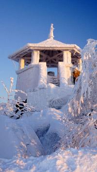 © Ferienregion Fichtelgebirge / fichtelgebirge, Bayern - Kösseineturm im Winter / Zum Vergrößern auf das Bild klicken