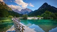© Tomo Jesenicnik / Kranjska Gora, Slo - Lake Jasna / Zum Vergrößern auf das Bild klicken