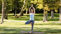 © Regionalmarketing Bad Tatzmannsdorf / Bad Tatzmannsdorf, Burgenland - Yoga im Park / Zum Vergrößern auf das Bild klicken