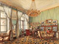 © Liechtenstein - The Princely Collections, Vaduz-Vienna / Albertina, Wien - Rudolf von Alt, Salon im Palais Rasumofsky / Zum Vergrößern auf das Bild klicken