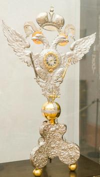 © Esterhazy / Cornelia Gobauer / Metropolitan Museum, NY - Internationale Ausstellung_Silberne Tischuhr / Zum Vergrößern auf das Bild klicken
