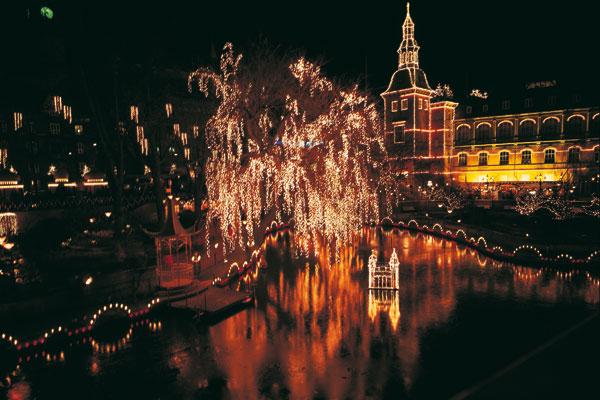 Tivoli-Weihnachtsmarkt in Kopenhagen, Dänemark